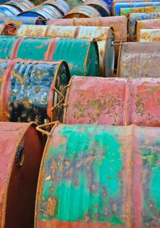 Free Rusty Metal Drums Stock Image - 22582451