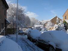 Free Urban Snow Scene Royalty Free Stock Photo - 22586405