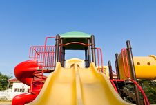Free Colorful Playground And Blue Sky Royalty Free Stock Image - 22586876