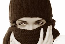 Free Girl With Hat. Toned Picture Stock Images - 22588694