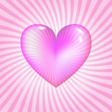 Free Pink Glassy Heart Stock Images - 22588804