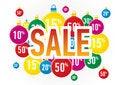 Free Christmas Sale Balls Royalty Free Stock Image - 22590016