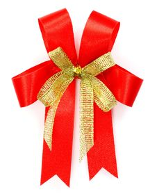 Free Bright Red Bow Royalty Free Stock Image - 22591776