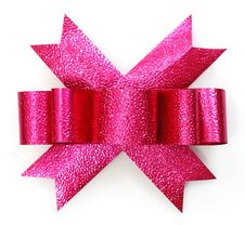 Free Pink Bow Royalty Free Stock Image - 22591786