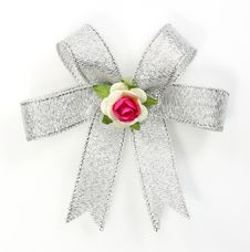 Free Beautiful Silver Bow Stock Photography - 22591802