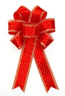 Free Red Bow Royalty Free Stock Photo - 22591825