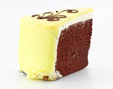 Chocolate Brownie With Vanilla Royalty Free Stock Images