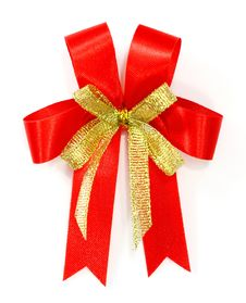 Free Red Bow Royalty Free Stock Photo - 22592045