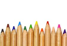 Free Set Of Color Pencil Royalty Free Stock Images - 22592069