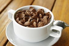 Free Cocoa Cereal In White Cup Royalty Free Stock Photography - 22592277