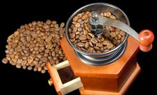 Free A Coffee Wooden  Grinder Black Royalty Free Stock Photos - 22593078