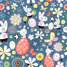 Free Flower Texture Of Easter Rabbits Stock Image - 22593121