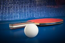 Free Equipment For Table Tennis Stock Photo - 22594620