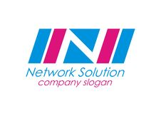 Free Network Solution Letter N Logo Blue Color Stock Photo - 22596040