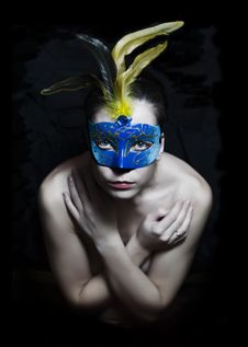 Free Girl In Mask Stock Photos - 22596243
