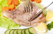 Free Steak With Vegetables Stock Photos - 22596483