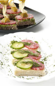 Free Sandwich With Salami Stock Photos - 22596563