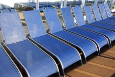 Free Cruise Ship Deck Chair Line-Up Stock Image - 22598261