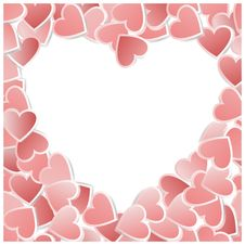 Free Valentine Hearts Card. Vector Illustration Royalty Free Stock Photo - 22598695