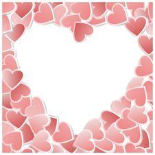 Free Valentine Hearts Card. Vector Illustration Royalty Free Stock Photo - 22598695
