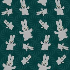 Free Seamless Background With Nice Hares Royalty Free Stock Images - 22599979