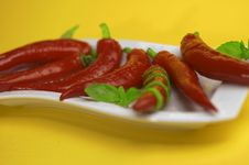 Free Red Chili With Oregano Royalty Free Stock Photography - 2260157