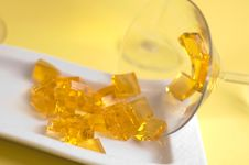Free Yellow Jelly Royalty Free Stock Photo - 2260905