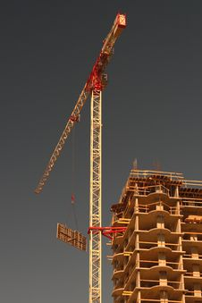 Free Construction With Crane Royalty Free Stock Photos - 2263508
