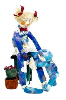 Doll With Elephant (craft) Stock Photo