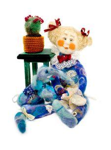Doll With Elephant - Handmade Stock Photography