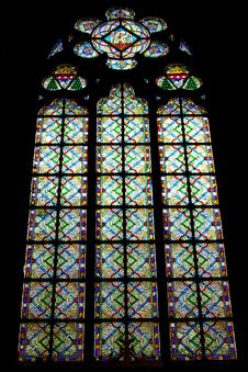 Free Medieval Stained Glass Window Royalty Free Stock Image - 2264746