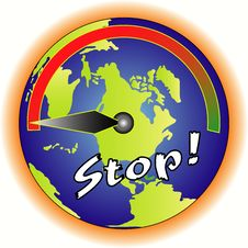 Stop The Torture For The Earth Stock Image