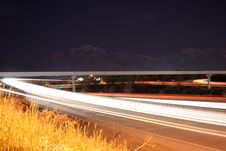 Free Highway On Ramp At Night Royalty Free Stock Image - 2265036