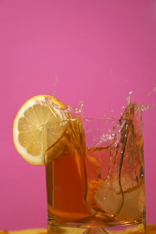 Free Aperitif Glass With Splashes Stock Image - 2265601
