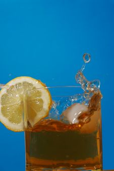 Free Aperitif Glass With Splashes Stock Images - 2265614