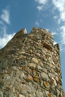 Old Castle Tower Stock Photography