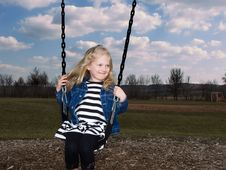 Free Girl Swinging Stock Photography - 2266062