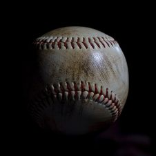 Free Used Baseball Royalty Free Stock Image - 2266346