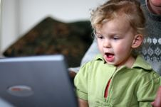 Free Baby At A Computer Stock Photography - 2266812