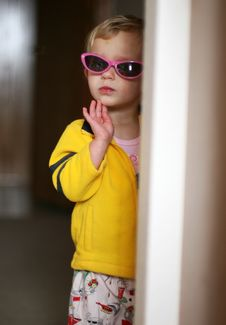Free Little Girl In Sunglasses Royalty Free Stock Photo - 2266905