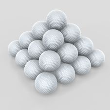 Free Golf Ball Pyramid Stock Photos - 2267083