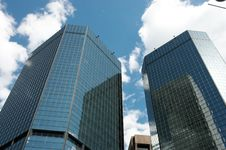 Free Skyscrapers Against The Sky Stock Image - 2267191