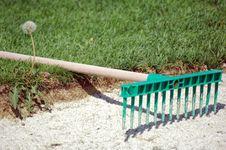 Free Rake On Herb Golf Field Royalty Free Stock Photos - 2267618