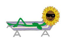 Free Sunflower Lounging Royalty Free Stock Photos - 2267928