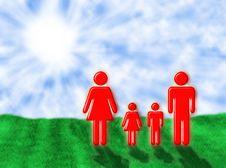 Family In The Sun Stock Photos