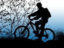 Free Biker Silhouette Royalty Free Stock Photos - 2269578