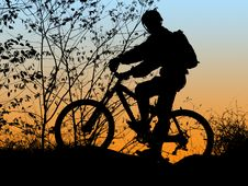 Free Biker Silhouette Royalty Free Stock Photos - 2269598