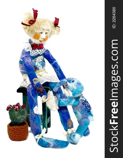 Doll with elephant (craft)