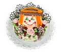 Free Cake With A Pattern In The Form Of Faces Clown Stock Photography - 22601512