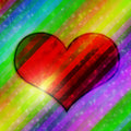 Free Heart Background Royalty Free Stock Image - 22601596